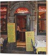 Brussels - Restaurant Savarin Wood Print