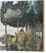 Bryant Park Carousel Wood Print