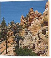 Bryce Canyon Santa Clause Wood Print