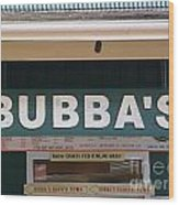 Bubba Burgers Wood Print
