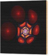 Bubble Art 1 Wood Print