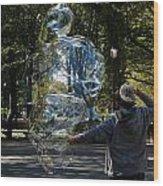 Bubble Boy Of Central Park Wood Print