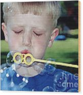 Bubble Boy Wood Print