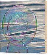 Bubble In A Bubble Wood Print