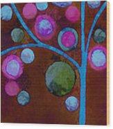 Bubble Tree - W02d - Left Wood Print
