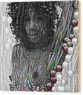 Bubble Woman Wood Print