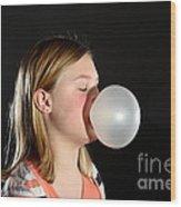 Bubblegum Bubble 2 Of 6 Wood Print