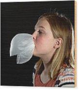Bubblegum Bubble 4 Of 6 Wood Print