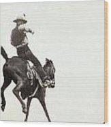 Bucking Bronco, C1888 Wood Print
