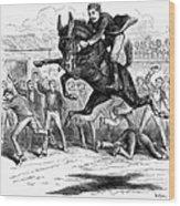 Bucking Mule, 1879 Wood Print