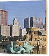 Buckingham Fountain - 4 Wood Print