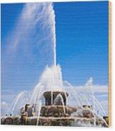 Buckingham Fountain In Chicago Wood Print