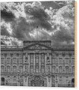 Buckingham Palace Bw Wood Print