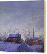 Bucks County Winter Twilight Wood Print