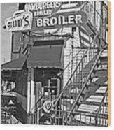Bud'd Broiler New Orleans-bw Wood Print