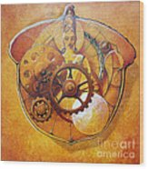 Buddah In An Acorn Wood Print