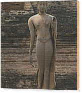 Buddha At Sukhothai 3 Wood Print