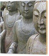 Buddha City2 Wood Print