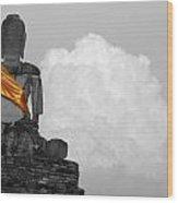 Buddha Contemplation Wood Print