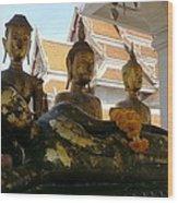 Buddha Figures Wood Print