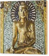 Buddha In Glass Wood Print