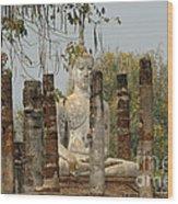 Buddha In Thailand Wood Print