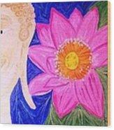 Buddha Lotus Peace Wood Print