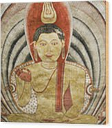 Buddha Painting In Sri Lanka Wood Print