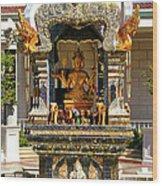 Buddha Shrine Wood Print