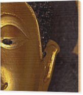 Buddha's Face Wood Print
