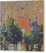 Buddha's Garden Party Wood Print by Douglas Fromm