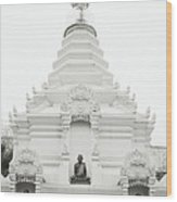 Buddhist Chedi Wood Print