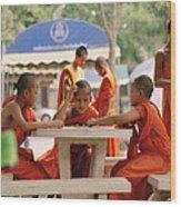 Buddhist Childhood Wood Print