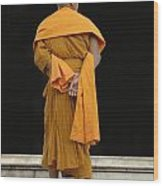 Buddhist Monk 1 Wood Print by Bob Christopher