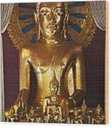 Buddhist Statue In Wat Phra Singh Wood Print