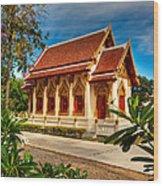 Buddhist Temple Wood Print