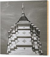 Buddhist Temple Wat Luang In Chiang Khong In Thailand Wood Print