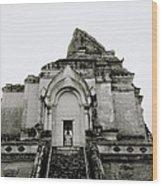 Buddhist Wat Chedi Luang Wood Print