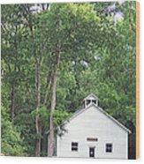 Buffalo Claylick School House  Greenbo Ky Wood Print by Tammy Ishmael - Eizman