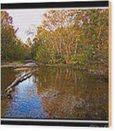 Buffalo Creek Wood Print