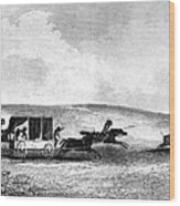 Buffalo Hunt, 1841 Wood Print