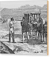 Buffalo Hunting, 1874 Wood Print