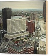 Buffalo New York Aerial View Wood Print