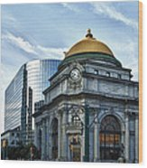 Buffalo Savings Bank 11415 Wood Print
