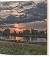 Buffalo Sunset 14390 Wood Print