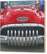 Buick With Teeth Wood Print