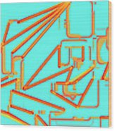 Build A Better Mousetrap With Cheese  Colored Art Wood Print