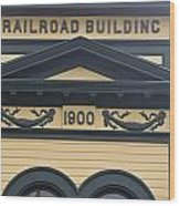 Building At Klondike Gold Rush National Wood Print by Michael Melford