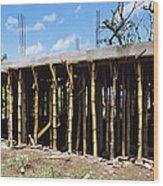 Building Construction Wood Print