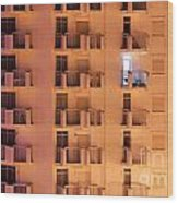Building Facade Wood Print